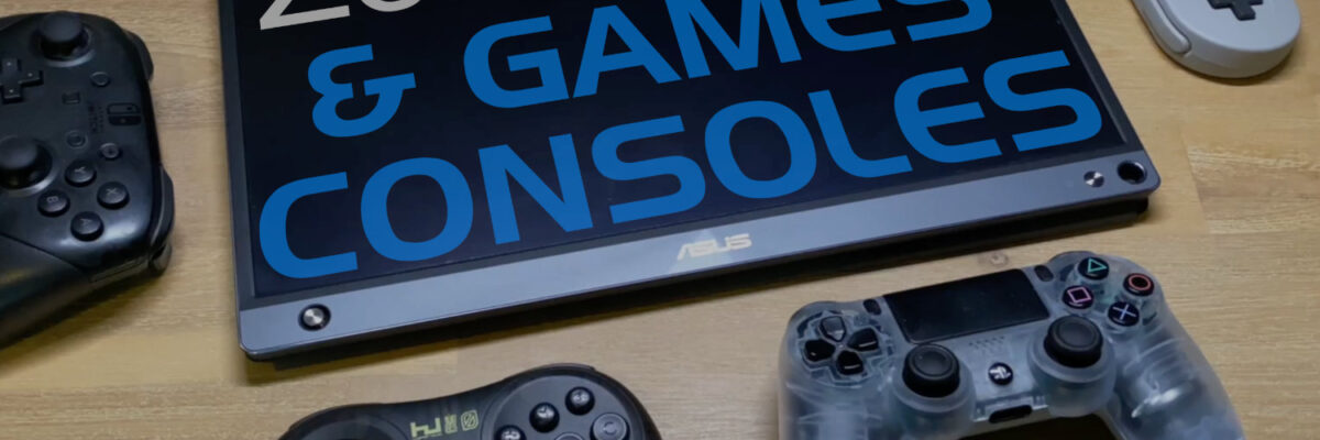 Games consoles working on the ZenScreen ASUS Touch Follow Up